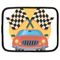 Automobile Car Checkered Drive Netbook Case (large)