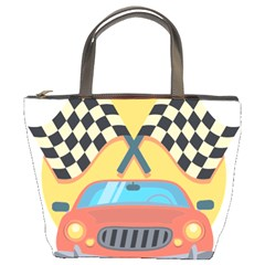 Automobile Car Checkered Drive Bucket Bag by Samandel