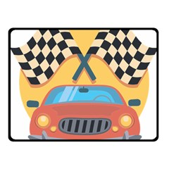 Automobile Car Checkered Drive Fleece Blanket (small) by Samandel