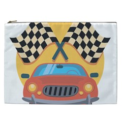 Automobile Car Checkered Drive Cosmetic Bag (xxl) by Samandel