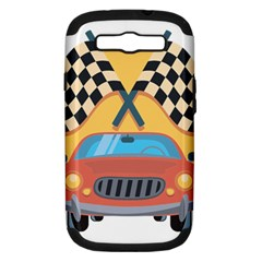Automobile Car Checkered Drive Samsung Galaxy S Iii Hardshell Case (pc+silicone) by Samandel