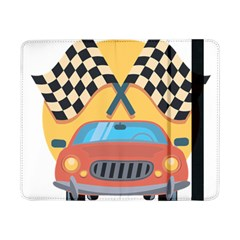 Automobile Car Checkered Drive Samsung Galaxy Tab Pro 8 4  Flip Case by Samandel