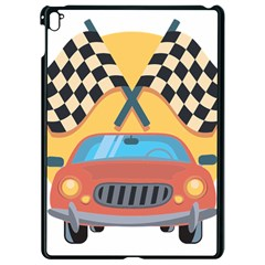 Automobile Car Checkered Drive Apple Ipad Pro 9 7   Black Seamless Case by Samandel