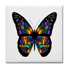 Abstract Animal Art Butterfly Tile Coasters by Samandel