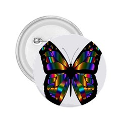 Abstract Animal Art Butterfly 2 25  Buttons