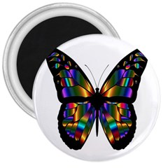 Abstract Animal Art Butterfly 3  Magnets