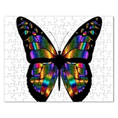Abstract Animal Art Butterfly Rectangular Jigsaw Puzzl