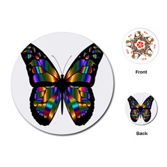 Abstract Animal Art Butterfly Playing Cards (round) by Samandel
