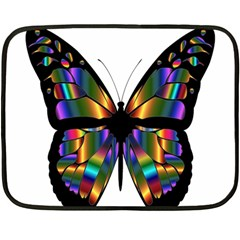 Abstract Animal Art Butterfly Fleece Blanket (mini)