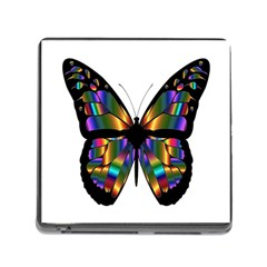 Abstract Animal Art Butterfly Memory Card Reader (square 5 Slot)