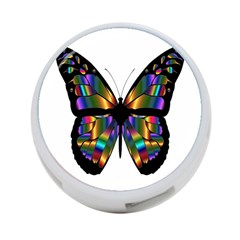 Abstract Animal Art Butterfly 4 Port Usb Hub (two Sides)