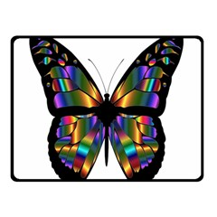 Abstract Animal Art Butterfly Double Sided Fleece Blanket (small)