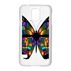 Abstract Animal Art Butterfly Samsung Galaxy S5 Case (white)