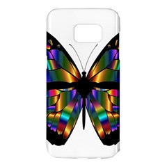Abstract Animal Art Butterfly Samsung Galaxy S7 Edge Hardshell Case