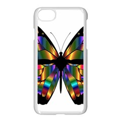 Abstract Animal Art Butterfly Apple Iphone 8 Seamless Case (white)