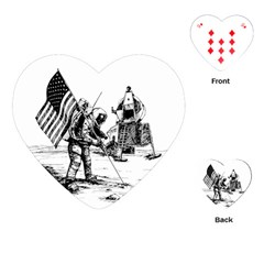 Apollo Moon Landing Nasa Usa Playing Cards (heart) by Samandel