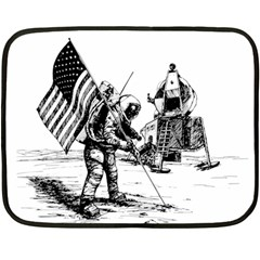 Apollo Moon Landing Nasa Usa Fleece Blanket (mini)
