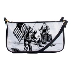Apollo Moon Landing Nasa Usa Shoulder Clutch Bag by Samandel