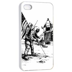 Apollo Moon Landing Nasa Usa Apple Iphone 4/4s Seamless Case (white)