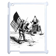 Apollo Moon Landing Nasa Usa Apple Ipad 2 Case (white) by Samandel