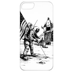 Apollo Moon Landing Nasa Usa Apple Iphone 5 Classic Hardshell Case by Samandel