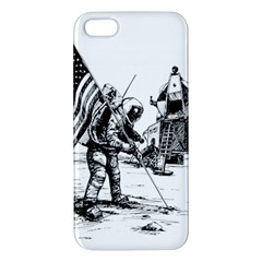 Apollo Moon Landing Nasa Usa Apple Iphone 5 Premium Hardshell Case by Samandel
