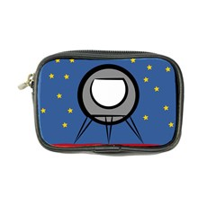 A Rocket Ship Sits On A Red Planet With Gold Stars In The Background Coin Purse by Samandel