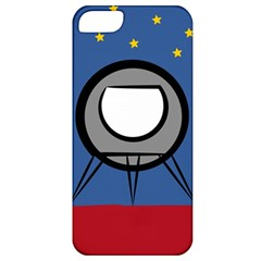A Rocket Ship Sits On A Red Planet With Gold Stars In The Background Apple Iphone 5 Classic Hardshell Case