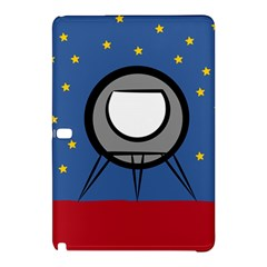 A Rocket Ship Sits On A Red Planet With Gold Stars In The Background Samsung Galaxy Tab Pro 10 1 Hardshell Case