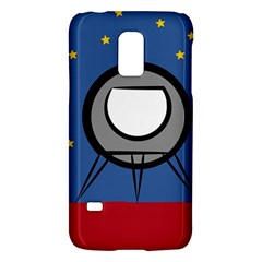 A Rocket Ship Sits On A Red Planet With Gold Stars In The Background Samsung Galaxy S5 Mini Hardshell Case