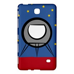 A Rocket Ship Sits On A Red Planet With Gold Stars In The Background Samsung Galaxy Tab 4 (7 ) Hardshell Case