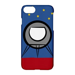 A Rocket Ship Sits On A Red Planet With Gold Stars In The Background Apple Iphone 8 Hardshell Case