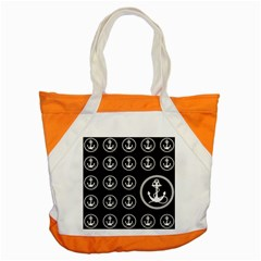 Anchor Pattern Accent Tote Bag