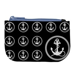 Anchor Pattern Large Coin Purse by Samandel