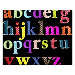 Alphabet Letters Colorful Polka Dots Letters In Lower Case Rectangular Jigsaw Puzzl by Samandel