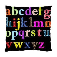 Alphabet Letters Colorful Polka Dots Letters In Lower Case Standard Cushion Case (two Sides) by Samandel