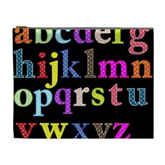 Alphabet Letters Colorful Polka Dots Letters In Lower Case Cosmetic Bag (xl) by Samandel