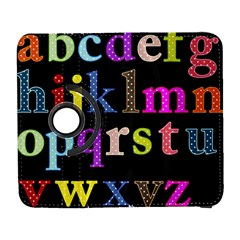 Alphabet Letters Colorful Polka Dots Letters In Lower Case Samsung Galaxy S  Iii Flip 360 Case by Samandel