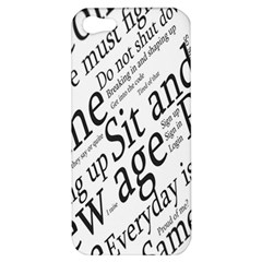Abstract Minimalistic Text Typography Grayscale Focused Into Newspaper Apple Iphone 5 Hardshell Case