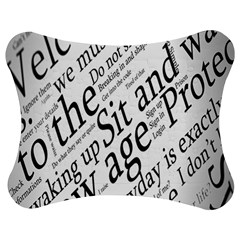 Abstract Minimalistic Text Typography Grayscale Focused Into Newspaper Jigsaw Puzzle Photo Stand (bow)