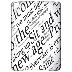 Abstract Minimalistic Text Typography Grayscale Focused Into Newspaper Apple Ipad Pro 9 7   Hardshell Case