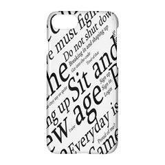 Abstract Minimalistic Text Typography Grayscale Focused Into Newspaper Apple Iphone 8 Hardshell Case