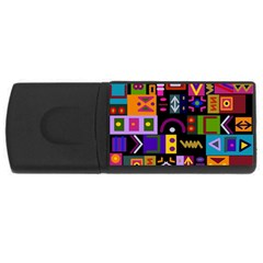 Abstract A Colorful Modern Illustration Rectangular Usb Flash Drive