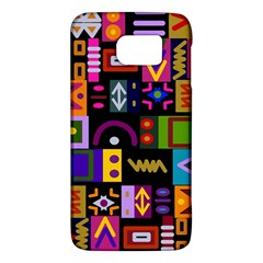 Abstract A Colorful Modern Illustration Samsung Galaxy S6 Hardshell Case  by Samandel