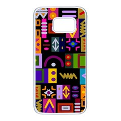 Abstract A Colorful Modern Illustration Samsung Galaxy S7 White Seamless Case