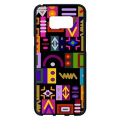 Abstract A Colorful Modern Illustration Samsung Galaxy S8 Plus Black Seamless Case