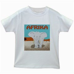 Africa Elephant Animals Animal Kids White T Shirts