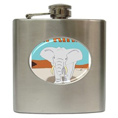 Africa Elephant Animals Animal Hip Flask (6 Oz)