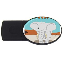 Africa Elephant Animals Animal Usb Flash Drive Oval (4 Gb) by Samandel