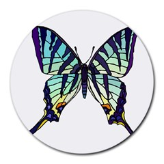 A Colorful Butterfly Round Mousepads by Samandel